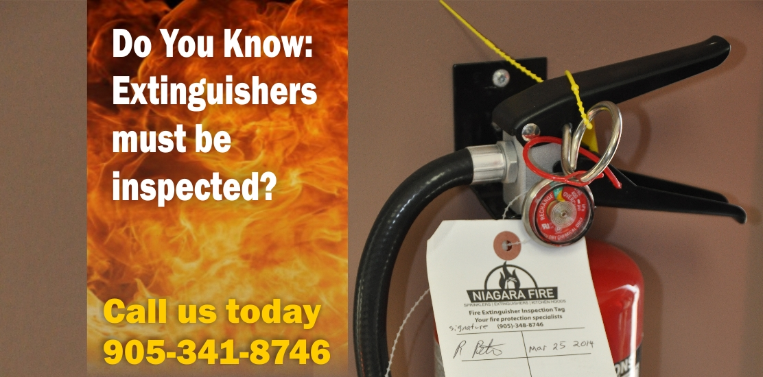 Extinguishers must be inspected